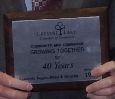 Crystal Lake Chamber of Commerce Plaque